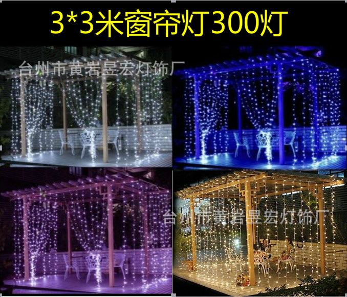 2017 3m X 3m 300 Led Outdoor Home Warm White Christmas Decorative Xmas String Fairy Curtain Garlands Party Lights For Wedding