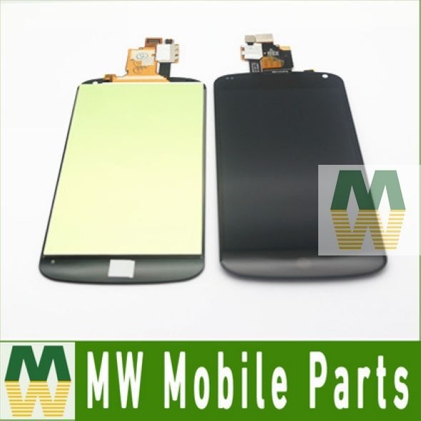 ФОТО 100% High Quality Black Color Touch Screen With LCD Display For LG Optimus E960 For Google Nexus 4 10PCS/Lot