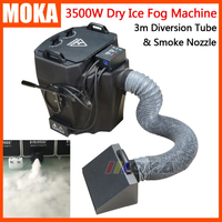 3500W Dry Ice Fog Machine stage low ground fog machine Floor Co2 smoke spray jet Wedding Party Effect Machine