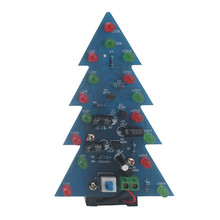 DIY Kit Christmas Tree LED Flash Light Electronic Production