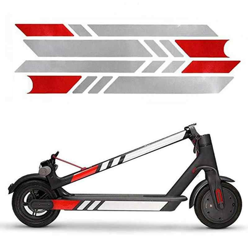 13 Colors High Quality Reflective Styling Stickers For Xiaomi Mijia M365 Electric Scooter Skateboard Accessories