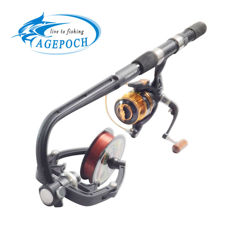 Fishing reel spooler portable spooling station line bobbin for Fishing line on reel