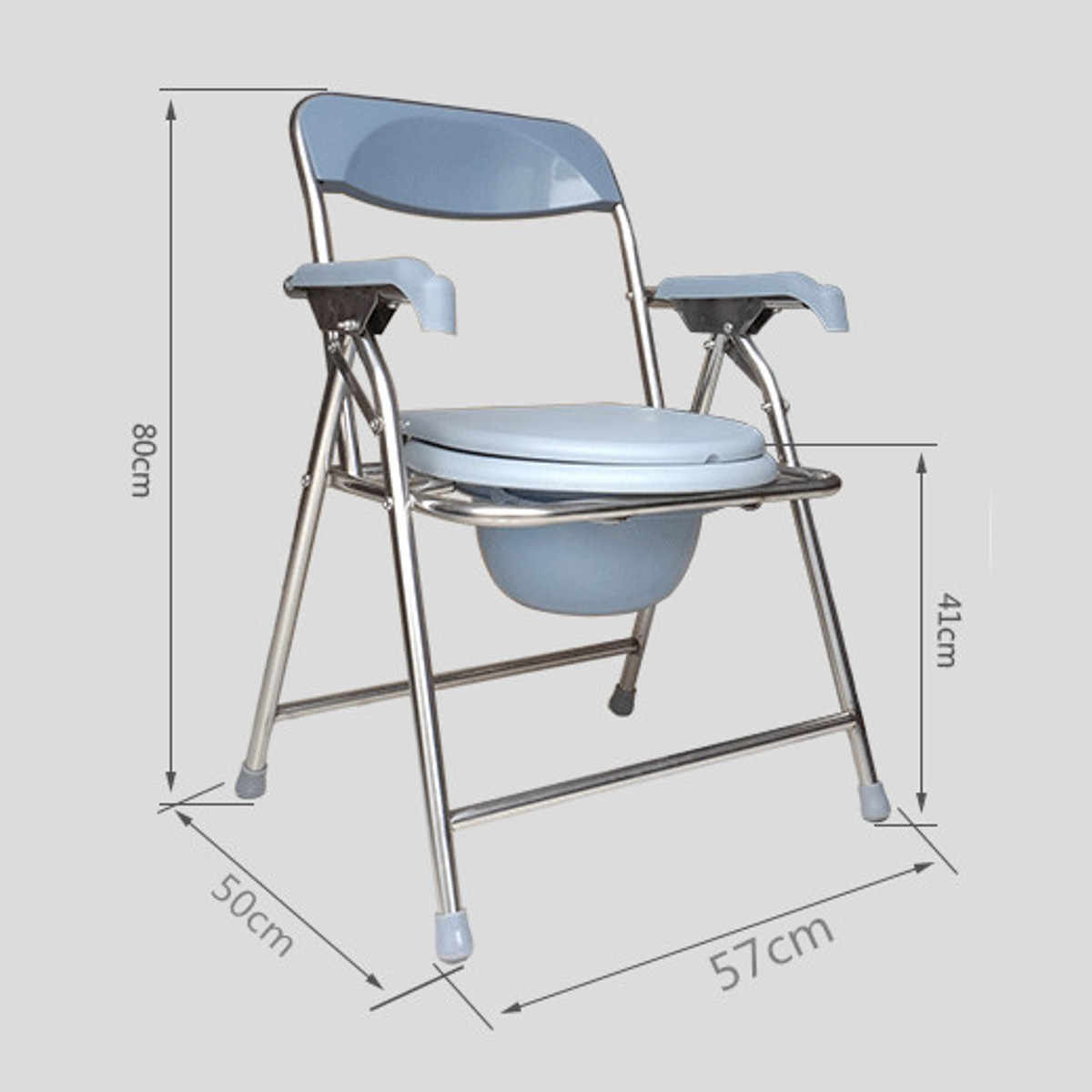Folding Bedside Commode Chair Heavy Duty Commode Toilet Chair