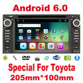 2 din Android 6.0 car radio for TOYOTA gps car radio Quad Core Head Unit HD Built-in GPS Navigation autoradio 2din car stereo