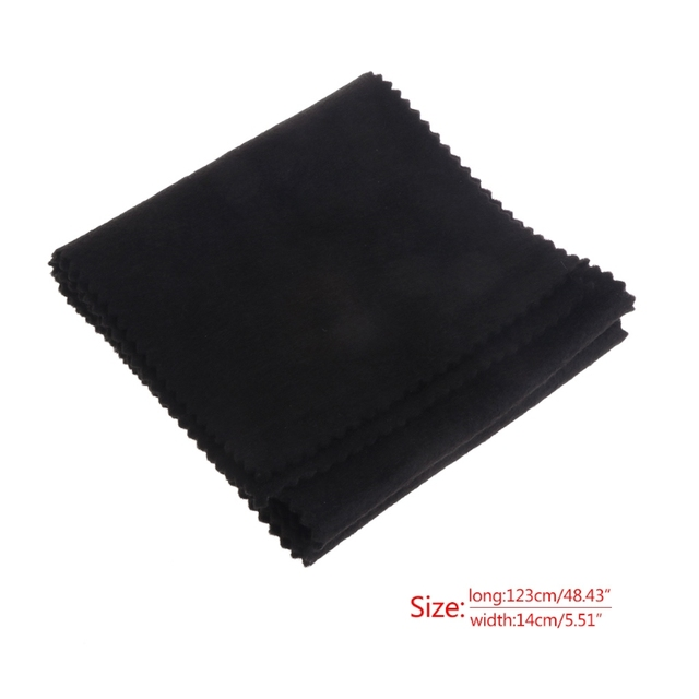 88 Keys Black Soft Piano Key Cover Keyboard Dust Proof Moisture Flannel Cloth 3