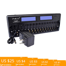 PALO PL-NC31 Intelligent Battery Charger Two Speedy Smart Charger w/ 16 Battery Slots for 1.2V Ni-MH Ni-CD AAA AA Batteries