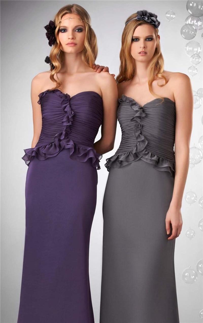 2015 nuevo estilo del amor gasa De dama De honor vestidos con ...