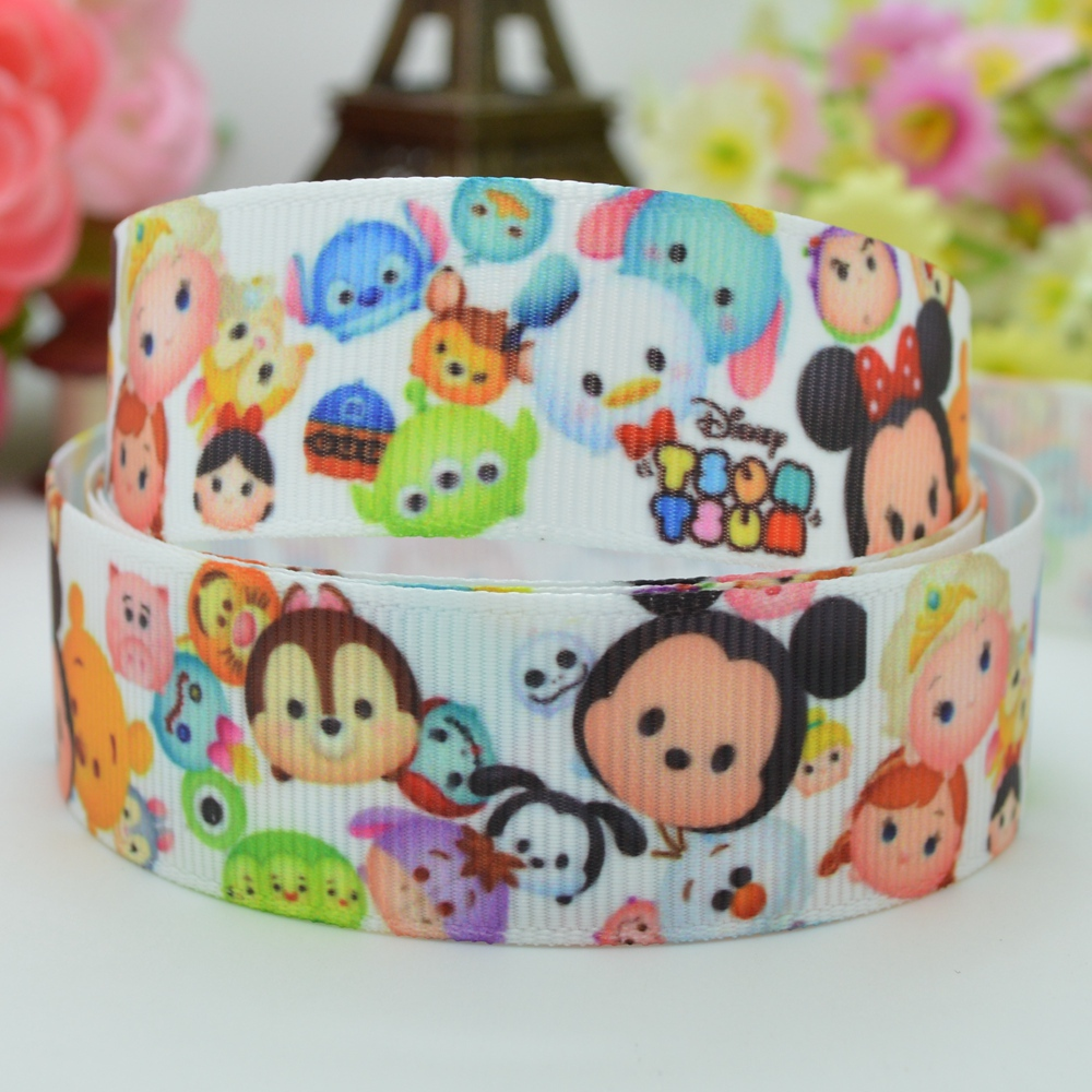 7/8 inch 22mm SO Cute TSUM START STACKING Printed grosgrain ribbon hai rbow DIY handmade OEM 50YD