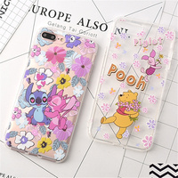 100pcs Piglet Case For iphone 6 6s 7 8 plus Case Silicone Stitch My Neighbor Totoro TPU Phone Cases Cover For iphone X XR case