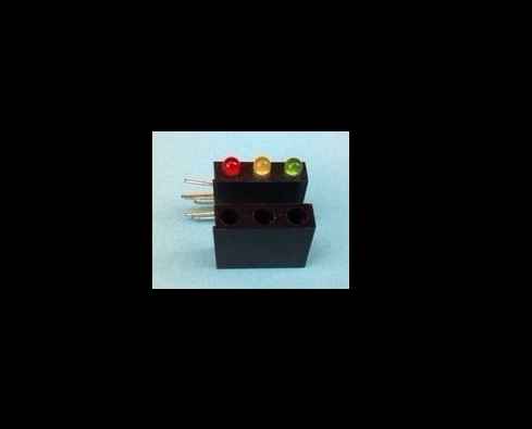 1000sets Through Hole Tricolor 3mm LED Diode With Holder For Toy Indicator, Traffic Light