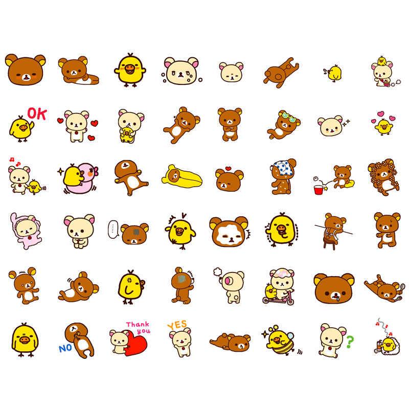 1 Pcs Jepang Putaran Kawaii Sanrio Rilakkuma Bear Precut Kerajinan Kertas Sticker Stationery Scrapbook Diary Bullet Journal Stiker Vv