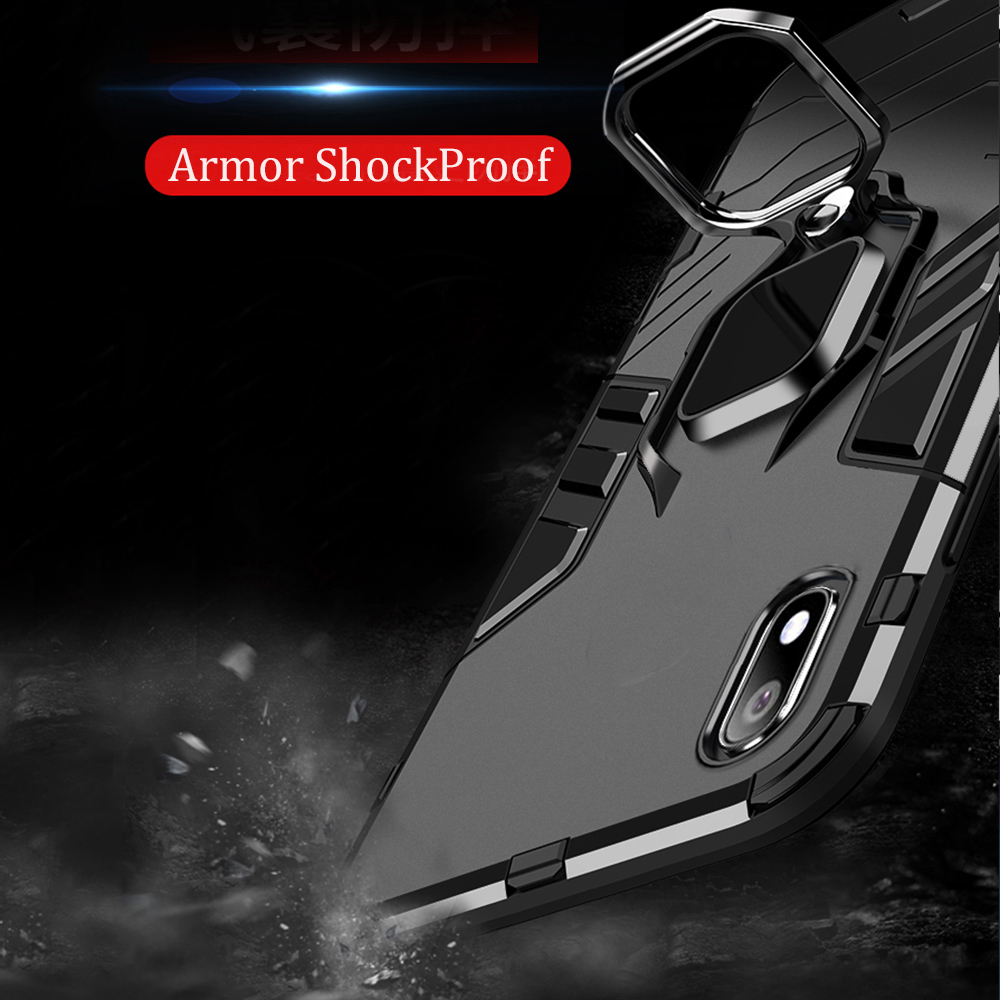 Image 3 - For Samsung Galaxy A10 Case Armor PC Cover Finger Ring Holder Phone Case for Samsung A 10 Cover Shockproof TPU Rim Bumper Shell-in Fitted Cases from Cellphones & Telecommunications