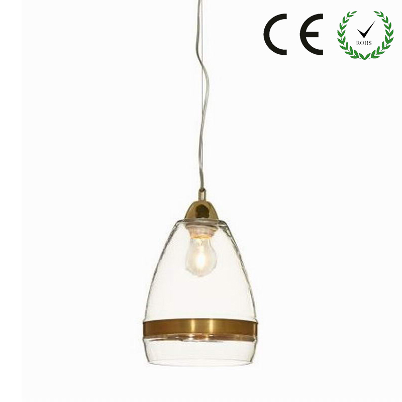 Clear antique gold glass pendant lamp For E27 Lights Cabinet Living dining room Edison Simple Glass Pendant Light Fixture loft simple retro edison industrial clear glass metal pendant lamp lights for cafe bar dining room shop living room store decor