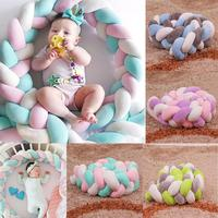 Colorful Knot Ball Shape Baby Safety Weaving Crib Fence for Kids Room Cradle
