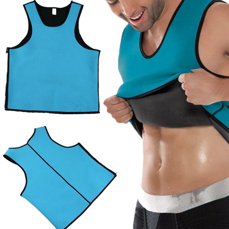 2018 Men Shapers Neoprene Shaper Men Slimming Vest Body Shaper Corset Waist Trainer Belt Super Stretch