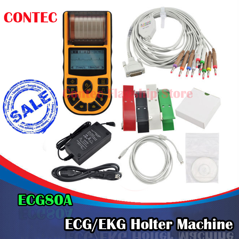 CE FDA Approved Contec ECG80A Hand-held Single Channel Digital ECG EKG Machine heart monitor holter Medical equipment health care ce easy handheld ecg ekg portable mini pc 80b lcd heart ekg monitor continuous measuring function usb