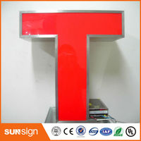 Custom Outdoor Frontlit Led Lighting 3d Letter Signage