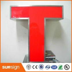 Iluminación led frontal personalizada para exteriores señalización de letras 3d