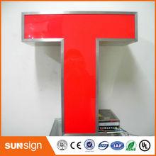Niestandardowe oświetlenie zewnętrzne frontlit led 3d litera do tworzenia napisów reklamowych tanie tanio shsuosai