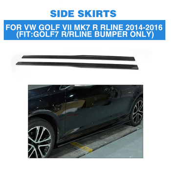 Carbon Fiber Door Exterior Side Skirts Extension Lips for Volkswagen VW GOLF 7 VII MK7 R R-LINE Hatchback 2014 - 2017 2PCS