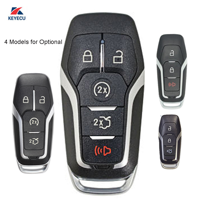 KEYECU Replacement <font><b>Smart</b></font> Remote Car <font><b>Key</b></font> Shell Case Fob for Ford F150 250 350 <font><b>450</b></font> 2017-2018 FCC ID: M3N-A2C31243300 (Shell Only) image