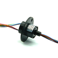 DHL FEDEX UPS FREE Ship 22MM 300 RPM 8 Circuits 2A Capsule Slip Ring 8 Conductors