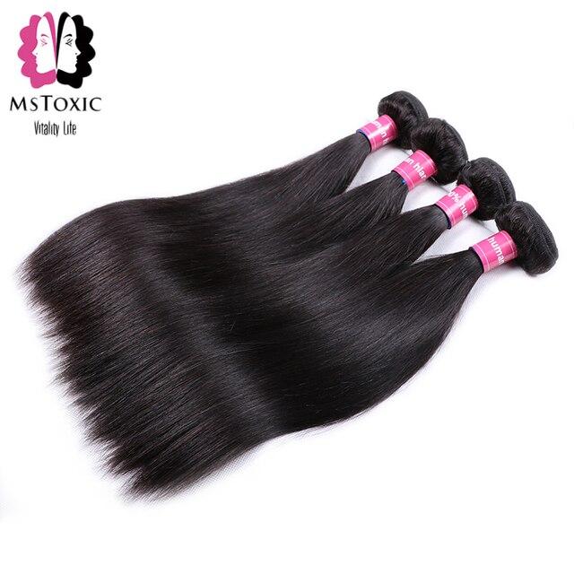 Mstoxic Peruvian Straight Hair Bundles 100% Human Hair Bundles Non Remy Hair Weave Extensions Natural Color 1Pcs Only