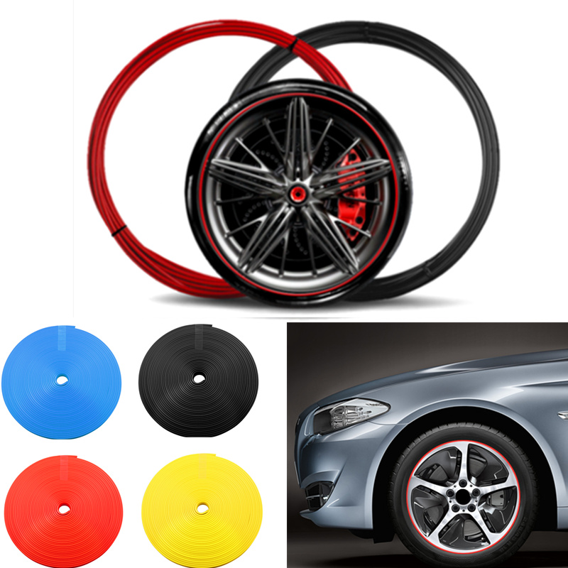 8M Car Hub Trim Decoration Anti-Collision Strip Wheel Rim Protector Ring Wheel Tire Edge Changer Guard Styling stickers