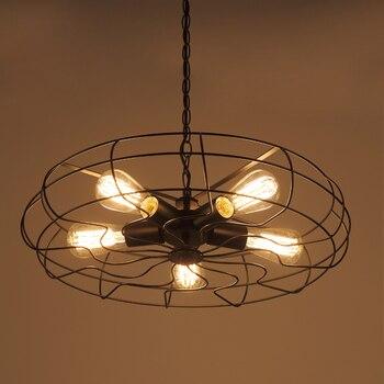 E27 Loft vintage industrial restaurant bar coffee shop wrought iron lamps nordic bar chandeliers