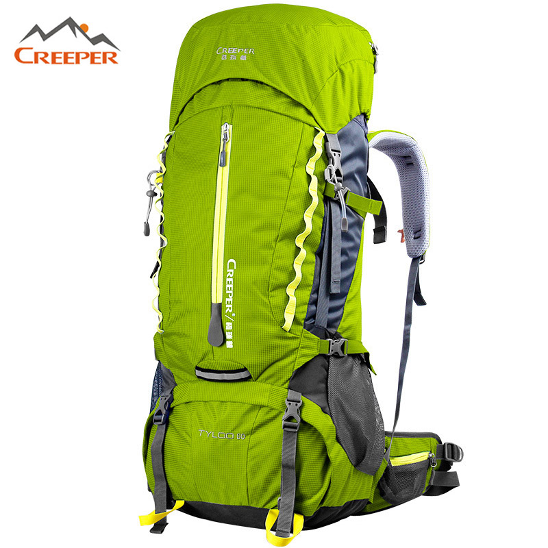 Creeper 60L Large Outdoor Backpack mochilas Camping Internal Frame Mountaineering Bag Pro Waterproof Rucksacks Travel Sport Bags design waterproof travel backpack outdoor mountaineering backpack patchwork super large luggage storage internal drawstring bag