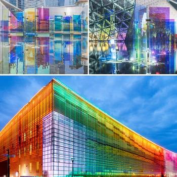 HOHOFILM 137cmx500cm Rainbow window Film Iridescent Rainbow Window Film for home restaurant self adhesive Sticker