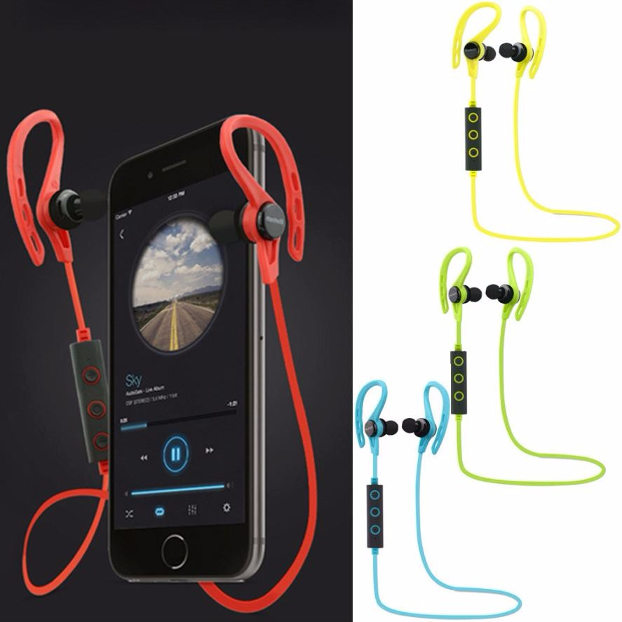 Wireless Sports Stereo Sweatproof Bluetooth Earphone Earbuds Headset with Microphone for iPhone/Nokia/HTC/Samsung/LG/ universal h3 wireless bluetooth heaphone stereo headset earphone handsfree with microphone for samsung lg htc lenovo iphone asus
