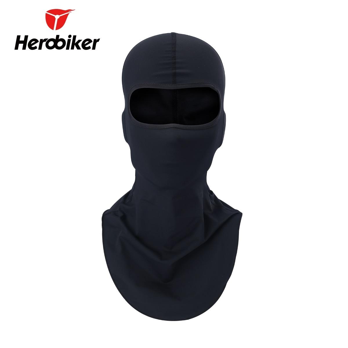 цена на HEROBIKER Motorcycle Mask Balaclava Face Shield Biker Motorbike Warmer Sun-protection Headwear Full Face Mask Motorcycle Maske