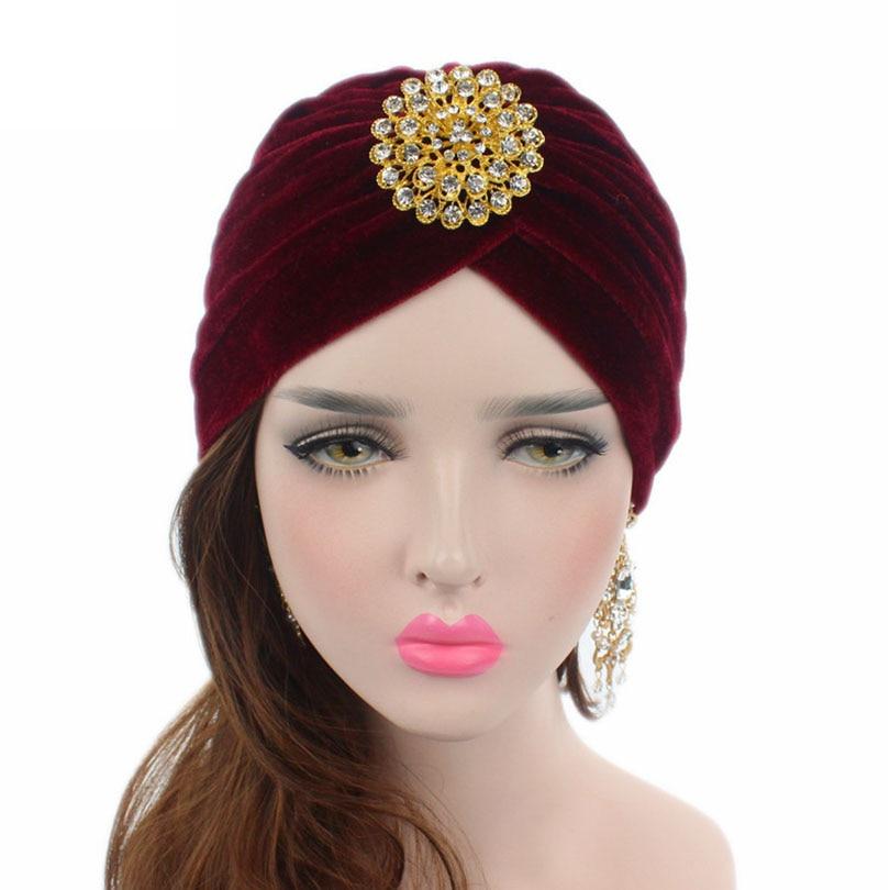 8ea3d61c6d1 Haimeikang Retro Women Velvet Knit Turban Beanie Hats Headwraps 1920s  Gatsby Cap Flapper Hat Twist Pleated Stretch Headwear