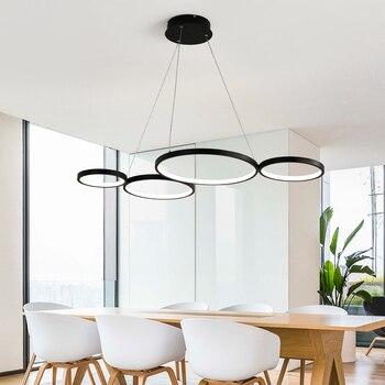 Luces colgantes de círculo nórdico Led poste moderno cocina ...