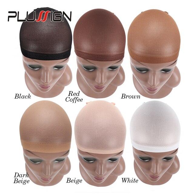 Tapa de Peluca de calidad de lujo para tejer 2 unids/pack redes de Peluca de pelo de malla elástica para hacer pelucas tamaño libre