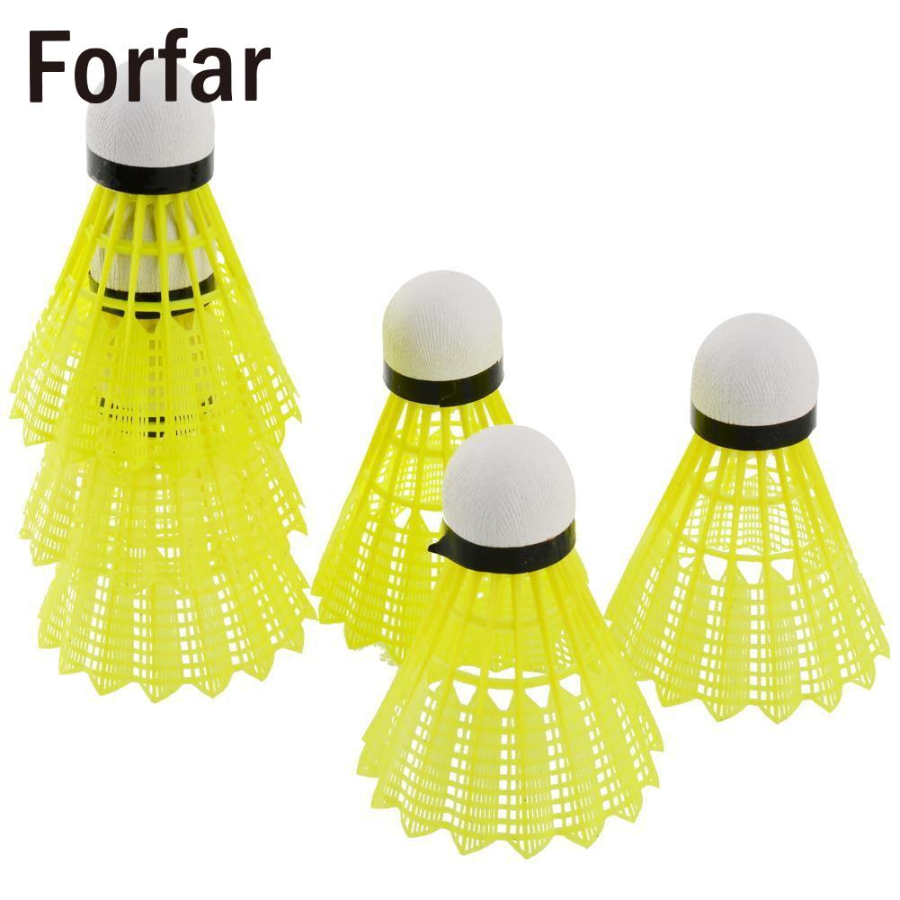 6pcs Train Gym Yellow Nylon Shuttlecocks Badminton Ball Outdoor Sport Plastic