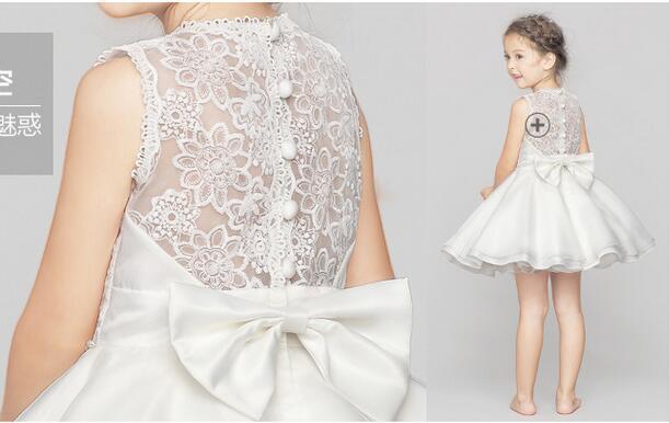 2016 Summer Simple White Chiffon Flower Girl Dresses For Beach