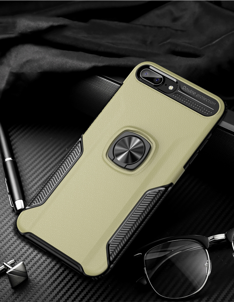 Luxury Leather skin Shockproof phone case For iPhone 7 8 6 6s plus back cover For iphone XR XS max cases with magnet ring holder (12)