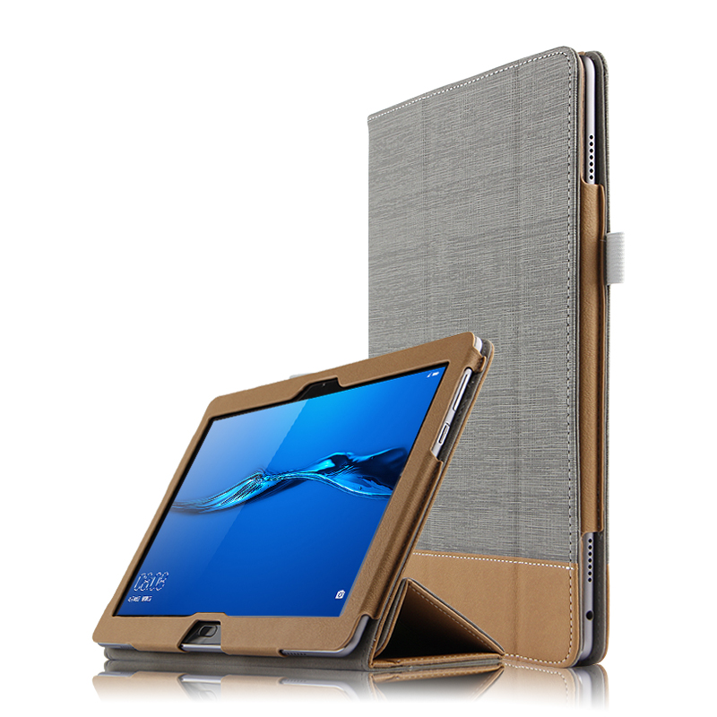 High Quality 3-Fold Canvas Folio Stand PU Leather Cover Manget Smart Sleep Case For Huawei MediaPad M3 Lite 10 BAH-W09 BAH-AL00 coque smart cover colorful painting pu leather stand case for huawei mediapad m3 lite 8 8 0 inch cpn w09 cpn al00 tablet