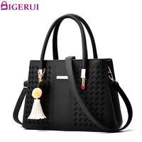 DIGERUI Brand Fashion Handbags PU Leather Women Handbag Tassel Designer Tote New Shoulder Bag Female SC0509