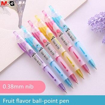 Bolígrafo perfumado de goma de color caramelo, plumas para estudiantes, presiona el bolígrafo para evitar que la oficina escolar presione el bolígrafo de 0,38mm