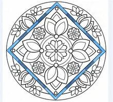Mandala Lotus adult coloring books graffiti drawing panting book for Children Adult Relieve Stress Kill Time libro colorear