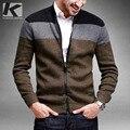 Бесплатная доставка мужская мода молнии свитер случайные кардиган 15813