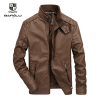 Spring and Autumn New Men's PU Leather Jacket Stand Collar Youth Motorcycle Leather Jacket Coat 1303
