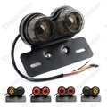 Motorbike Parts LED Twin Dual Tail Turn Signal Brake License Plate Integrated Light  For Bobber Chopper Cafe Racer ATV