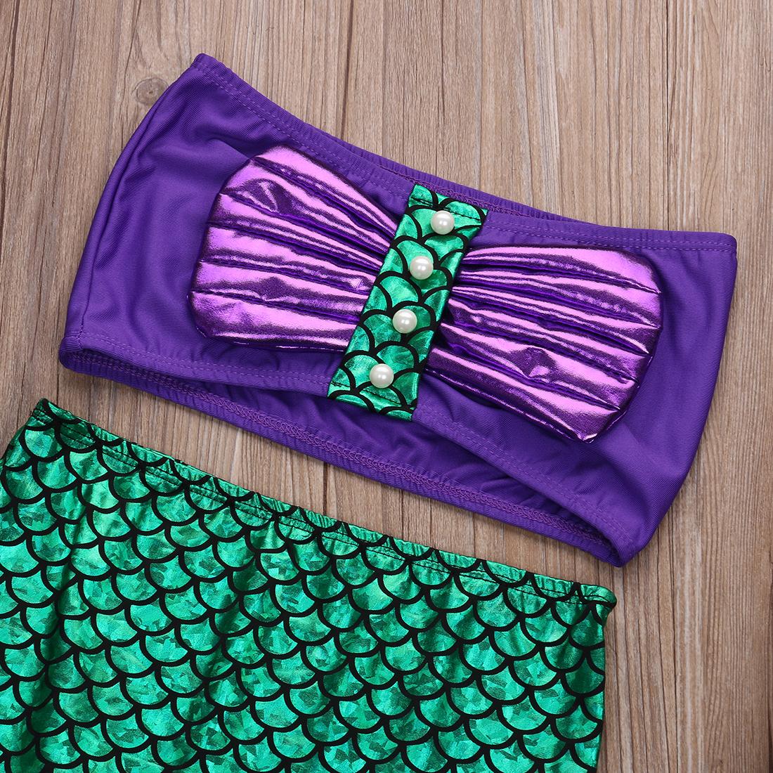 La Pequeña Princesa Ariel Vestido Disfraz Cosplay Niños Para Niña Vestido Verde Elegante