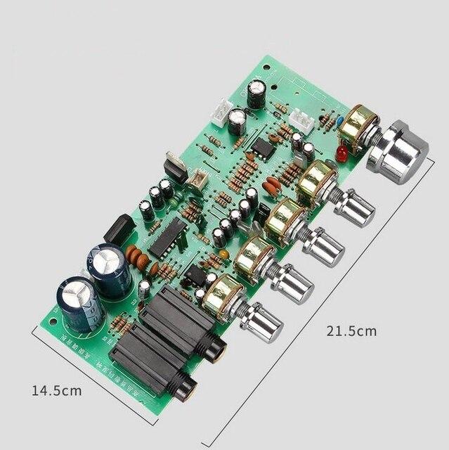AC 12V 15V PT2399 dijital mikrofon ses amplifikatörü kurulu Karaoke plaka Reverb preamplifikatör teşvik ton kurulu
