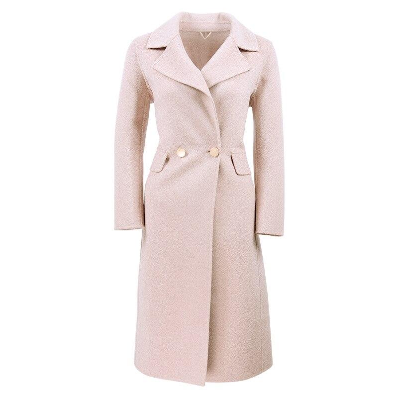 Sottile Delle Giacche Beige Cappotto Lana Solido Cappotti E Di Donna Colore  Cachemire Nuovo Lungo Inverno Autunno ... a795b4da2c1