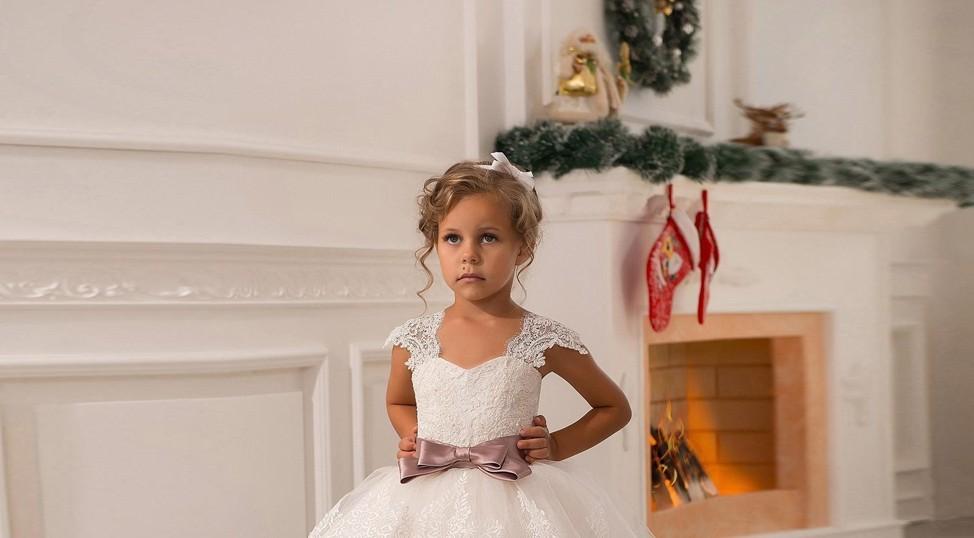 d8adb8c872e9d فساتين كاب كم الدانتيل الأبيض زهرة بنات فساتين لل زفاف القوس فستان ...